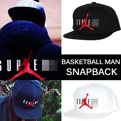 バスケットボールマンロゴコラボスナップバック/Basketball Man logo collaboration snapback