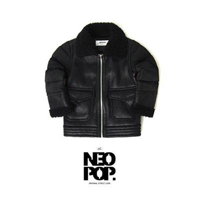 [韓国子供服[NEOPOP/MUSTANG PADDING JUMPER]寒い季節にピッタリのムスタングパディング ジャンパー/ブラック