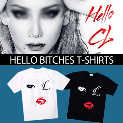 ★当日発送★ 2ne1 CL GZB【HELLO BITCHES】 PV LOGOTシャツBad girl/悪い子/応援Tシャツ/