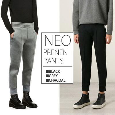 海外トレンドファッションスタイル!ネオプレンスマートジョガーパンツ(BLACK,CHACOAL,GREY)NEOPRENEN SMART JOGGER PANTS