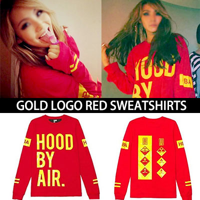 ♥ CL新曲 'Hello Bitches' 発売記念少量再入荷 ♥2NE1・CL STYLE!HOOD BY AI* st. GOLD LOGO SWEATSHRITS/ 金箔トレーナー