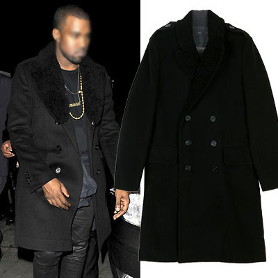 ★LUXURY STLYLE★カニエ・ウェストスタイル!プローサムダブルブレストコート/KANYE WEST ST.DOUBLE BREASTED COAT
