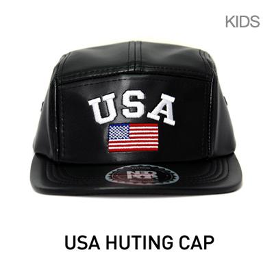 韓国子供帽子[NEOPOP/USA HUTING CAP] クオリティが並外れるUSA刺繍が施されたUSAハンチングキャップ/キッズ帽子
