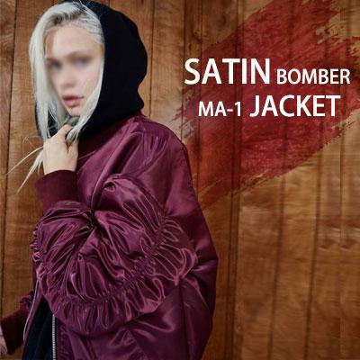 ストリート感受性がたっぷり詰まったFOGスタイルのMA-1ボンバージャケットSATIN BOMBER MA-1 JACKET(BLACK,WINE,KHAKI)