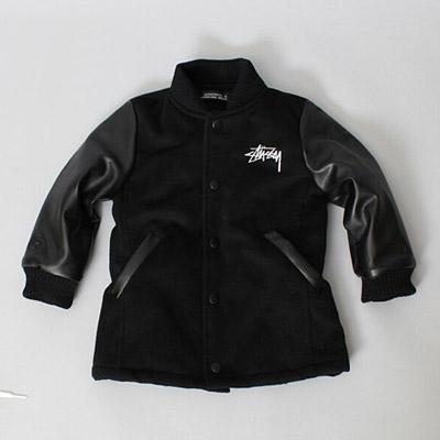 韓国子供服 [ST JACKET] 毛織素材であたたかくてオシャレ!STジャケット (BLACK)
