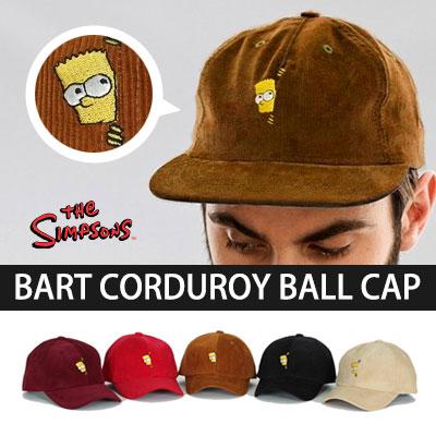 ★選べる5カラー★かくれんぼバートシンプソンコーデュロイボールキャップ/BART SIMPSON CAP