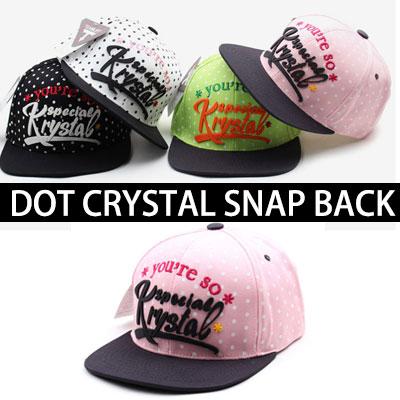 ★選べる4カラー★さわやか ドットクリスタルスナップバック/DOT CRYSTAL SNAP BACK