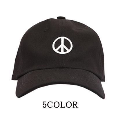 ★選べる5カラー★PGL ピースマーク刺繍 ボールキャップ