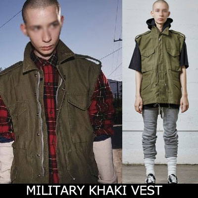 16s/sFear style!ミリタリーカーキベスト/MILITARY KHAKI VEST