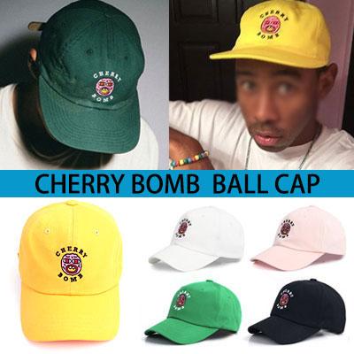 タイラーなど海外のストリートファッションリーダーたちに大ブレイク中!チェリーボムキャップ(6COLOR)/CHERRY BOMB BALL CAP