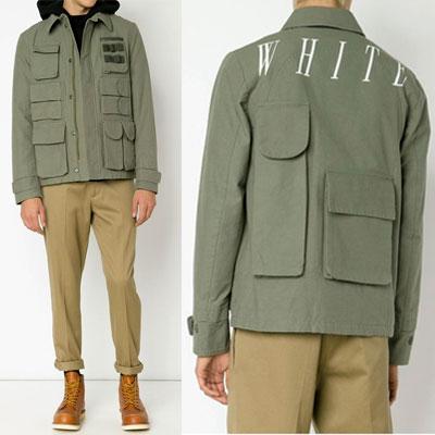 ホワイトロゴマルチポケットジャケット(KHAKI,BLACK)/WHITE LOGO MULTI POCKET JACKET
