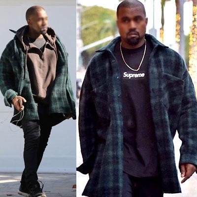 カニエ・ウェストスタイル!オーバーフィットフランネルチェックシャツジャケット