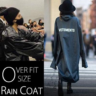 この一枚でオシャレなストリートモード完成!G-DRAGON、カニエ・ウェストst!オーバーフィットサイズレインコート/OVER FIT SIZE RAIN COAT
