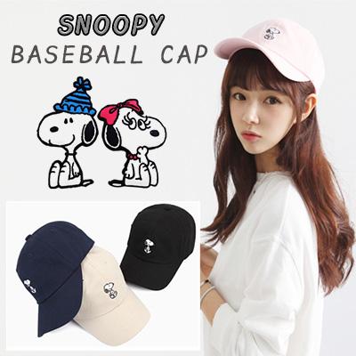 ベーシックスヌーピー刺繍ボールキャップ(6COLOR)/コラボキャップ/SNOOPY BALL CAP