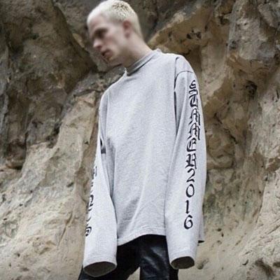 16SSオーバーサイズオールドイングリッシュロゴスウェットシャツ/OVER SIZE CLASSIC LOGO SWEATSHRITS