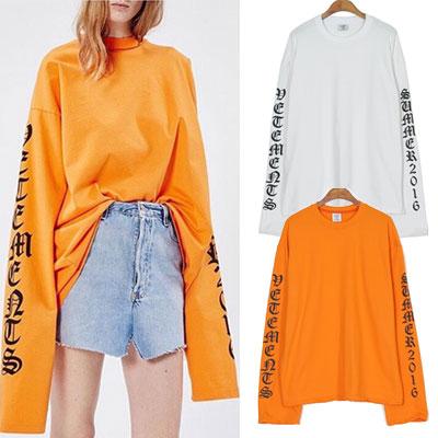 ★オレンジ・ホワイト色追加★16SSオーバーサイズオールドイングリッシュロゴスウェットシャツ