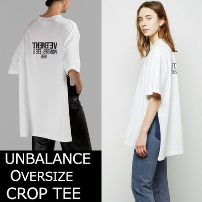 SALE★当日発送★UNISEX★シックな感性のオーバーサイズサイドオープンTシャツ(BLACK,WHITE)