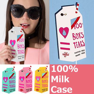 キューティー100%ミルク牛乳iPhoneケース/iPhone5_5s/iPhone6/6S_iPhone6+/6+S