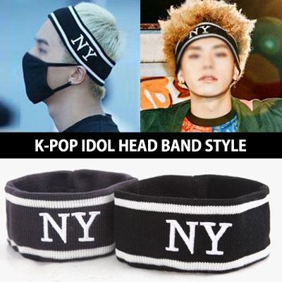 WINNER ソンミンホ私服ファッション NYロゴヘッドバンド!K-POP IDOL 舞台衣装ベストアイテム!K-POPアイドルダンスの練習の必需品!