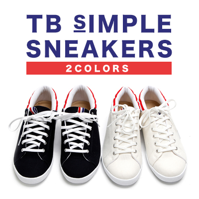 [25.0~28.0cm]TBシンプルスニーカー/TB SIMPLE SNEAKERS(2COLORS)