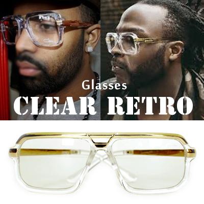 ラグジュアリーアイウェア/CAZ*L クリアーレトロ/CAZ*L CLEAR RETRO GLASSES