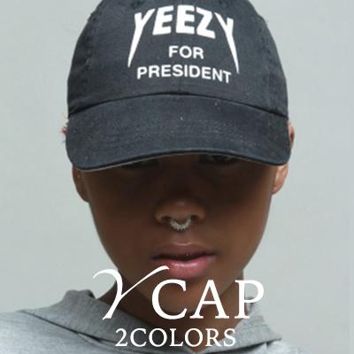 セレブストリートファッション/刺繍ロゴ Yボールキャップ/Y BASEBALL CAP(2COLORS)