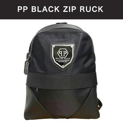 PP BLACK ZIP RUCK/PP ブラックジップリュック/バックパック/リュック/レディースバッグ/メンズバッグ