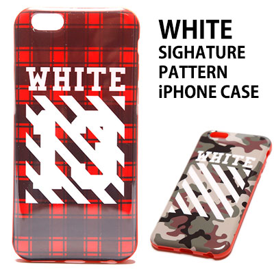 ★High Quality★ホワイトシグネチャパターンのiPhone6ケース/iPhone6/6S