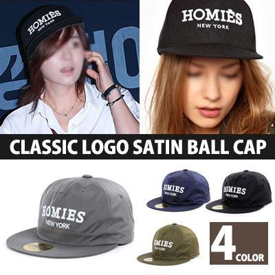 韓国の人気女優チェ・ガンヒスタイル!H CLASSIC LOGO SATIN BALL CAP