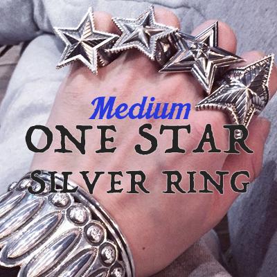 ワンスターミディアムシルバーリング/ONE STAR MEDIUM SILVER RING