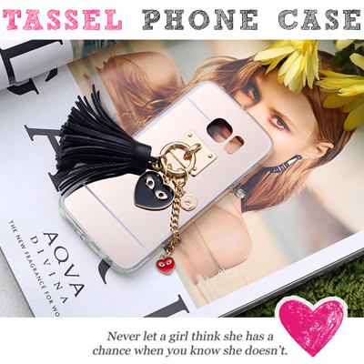 ふさ付きフォンケース/TASSEL CASE/iPhone/Galaxy/Galaxy Note/LG G3/LG G4
