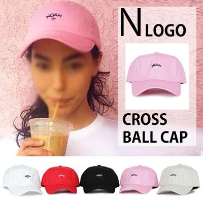 海外ファッションスター大ブレイク中!N CROSS LOGO BALL CAP(BLACK,RED,PINK,BEIGE,WHITE)
