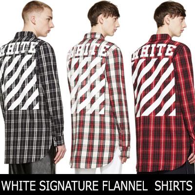 EXO FASHION STYLE!ホワイトシグネチャラインが素敵なフランネルチェックシャツ(RED,GREY,BROWN)