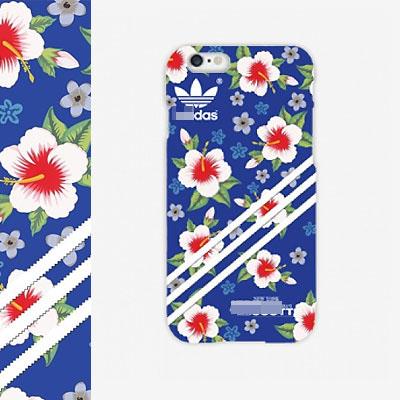 鮮やかなブルーと花のパターンがオシャレ〜3LEAVES FLOWER PATTERN BLUE CASE