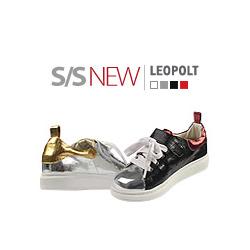 キッズシューズ/子供靴 BUDDY KIDS/レオポルトスニーカー/S/S LEOPOLT SNEAKERS(15cm~23cm)/4COLORS(RED,WHITE,SILVER,BLACK)