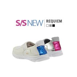 キッズシューズ/子供靴 BUDDY KIDS/レクイエムスニーカー/S/S REQUIEM SNEAKERS(14cm~23cm)/3COLORS(WHITE,SILVER,BLACK)