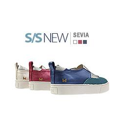 キッズシューズ/子供靴 BUDDY KIDS/セビアスニーカー/S/S SEVIA SNEAKERS(15cm~23cm)/3COLORS(WHITE,BLUE,PINK)