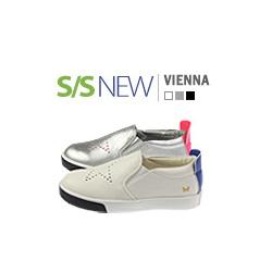 キッズシューズ/子供靴 BUDDY KIDS/ヴィエンナスニーカー/S/S VIENNA SNEAKERS(16cm~23cm)/3COLORS(WHITE,SILVER,BLACK)