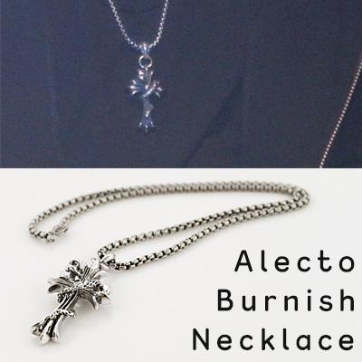 クロスモチーフのアレクトバーニッシュネックレス/ALECTO BURNISH NECKLACE
