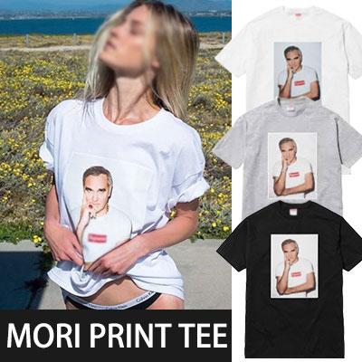 SU STYLE!モリプリントベーシック半袖Tシャツ(WHTIE,GREY,BLACK)
