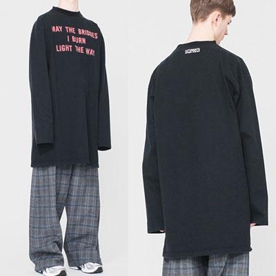 Block.B ZICO Style!VET STYLE!BURNロゴオーバーサイズロングTシャツ