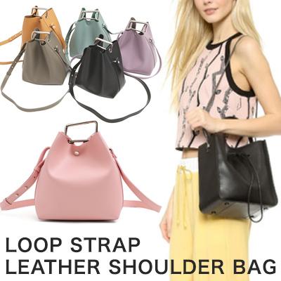 ループストラップ ショルダーバッグ(牛革)/レディースバッグ/COWHIDE LOOP STRAP LEATHER SHOULDER BAG(12COLORS)
