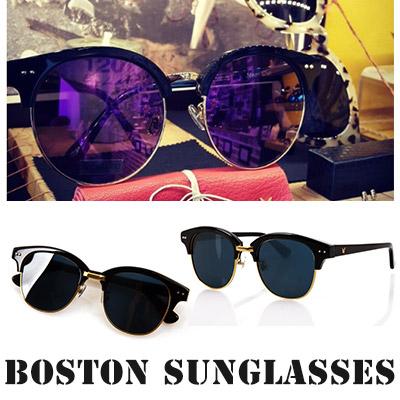 ボストン型デザイン/ユニークフレームサングラス