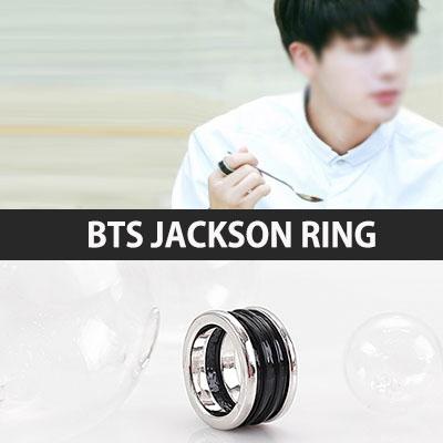 BTS STYLE! ブラックとシルバーの色合いが素敵なジャックソンリング