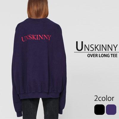 最近流行のアイテム!UN ロゴオーバーサイズスウェットシャツ(BLACK,VIOLET)