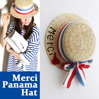 パリ気分を味わおう!メルシーパナマハットMERCI PANAMA HAT