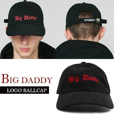 おしゃれな赤い文字がポイント!ビッグダディボールキャップBIG DADDY LOGO BALLCAP