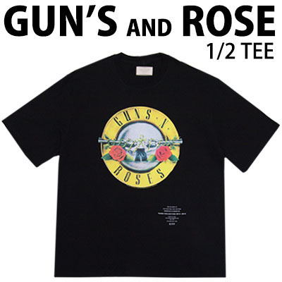 シンプルかつカッコイイ!GUNS AND ROSE 半袖Tシャツ/ユニセックス