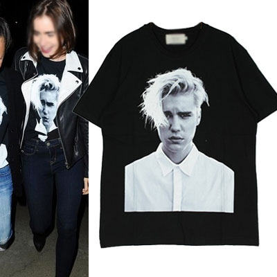 PHOTO & CROSS ロゴTシャツ/半袖Tシャツ/ジャスティンビーバー