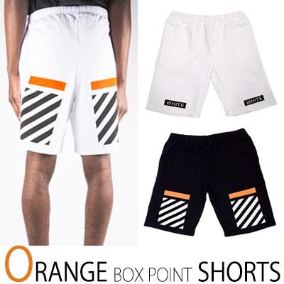 OFF st. オレンジポイントでさわやかに! ORANGE BOX POINT SHORTS/ハーフパンツ